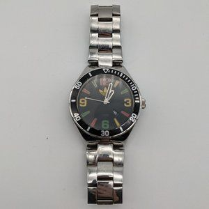Mens Adidas Watch Silver Black Red Green Yellow